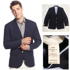 Tommy Hilfiger Navy Gold Button Wool Blazer Jacket
